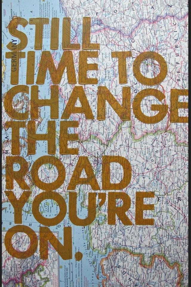 change the road
