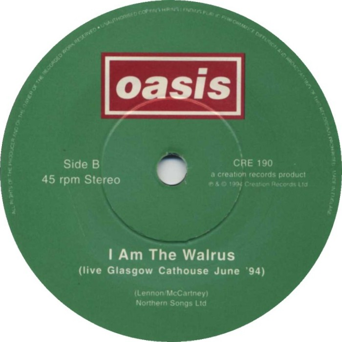 Oasis - I Am The Walrus