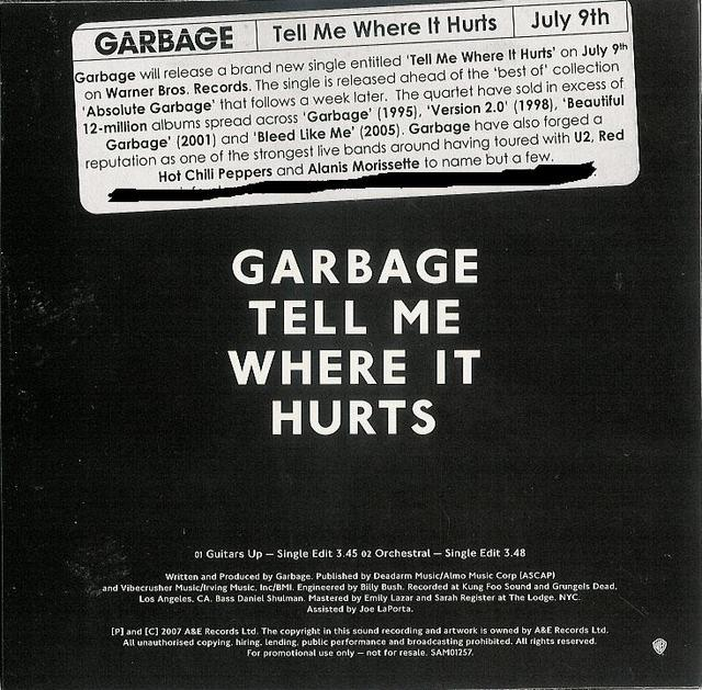 Garbage - Tell Me Where It Hurts