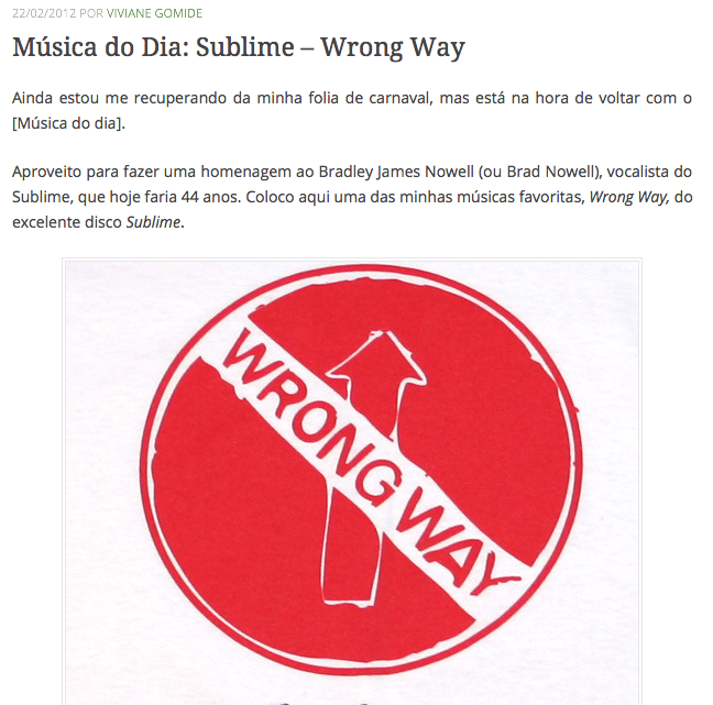 4Música do Dia Sublime – Wrong Way