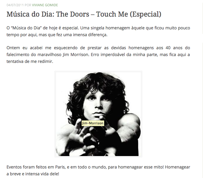 5Música do Dia The Doors Touch Me