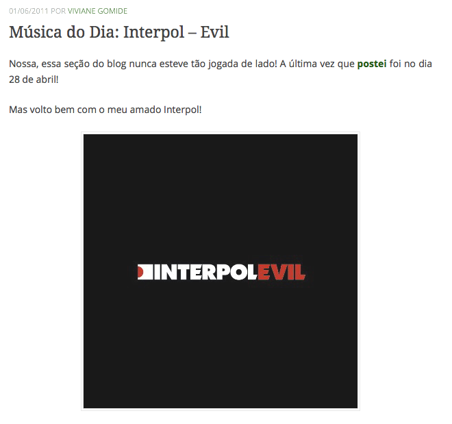 7Musica do Dia Interpol – Evil