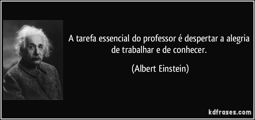 Frase Do Dia Einstein E Os Professores